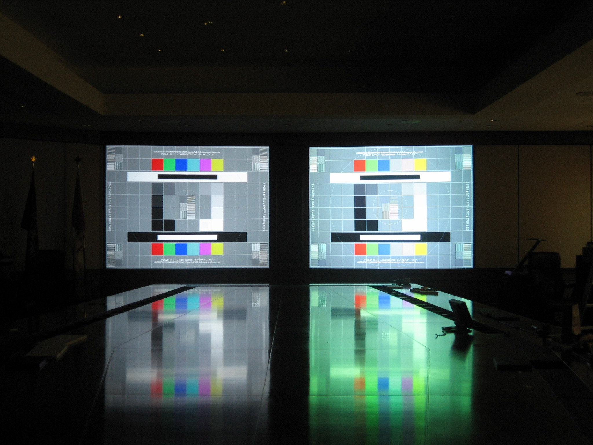 Dual Rear Projection