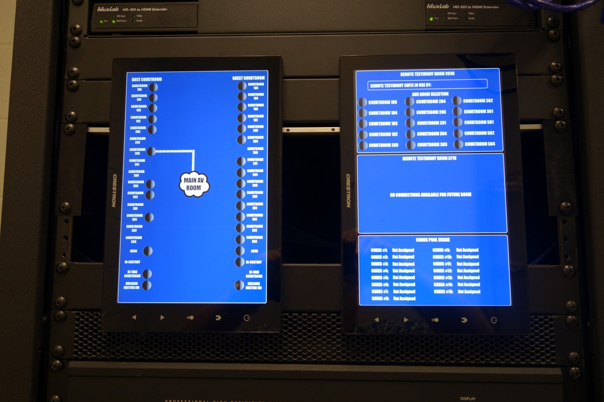 Equipment Rack – Touch Panels